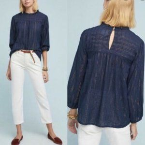 Maeve anthropologie pinstriped blouse small